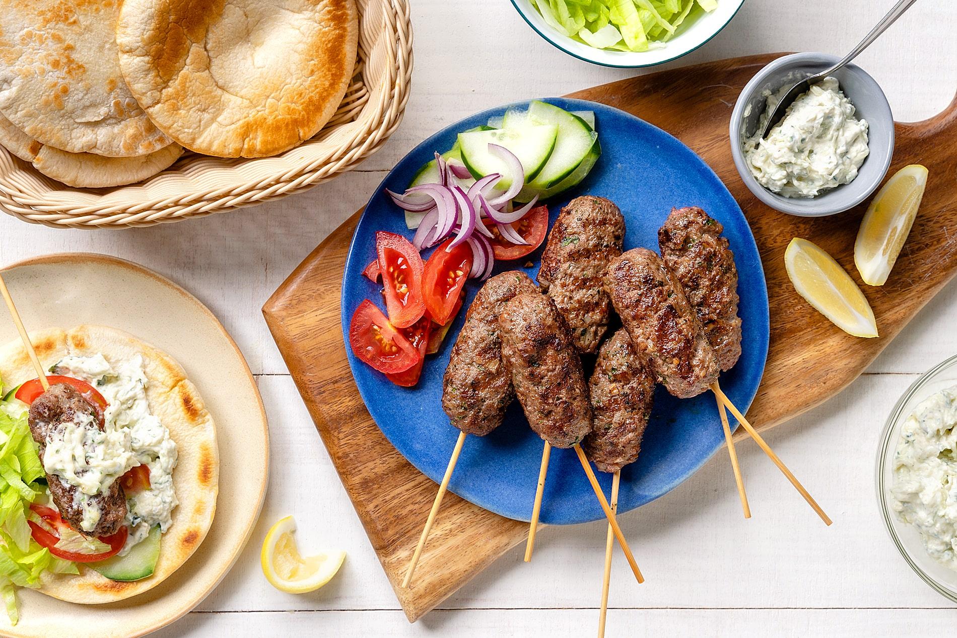 Beef Kofta With Creamy Tzatziki