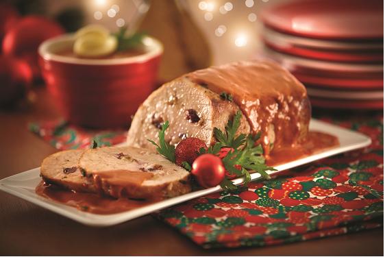Lomo de cerdo relleno en salsa de tamarindo