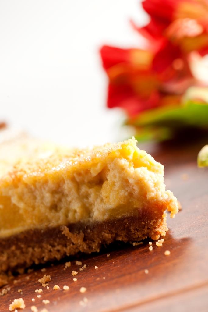 Cheesecake de mango y canela