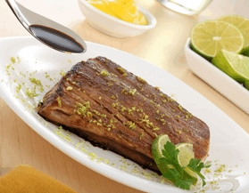 Atún con salsa soya