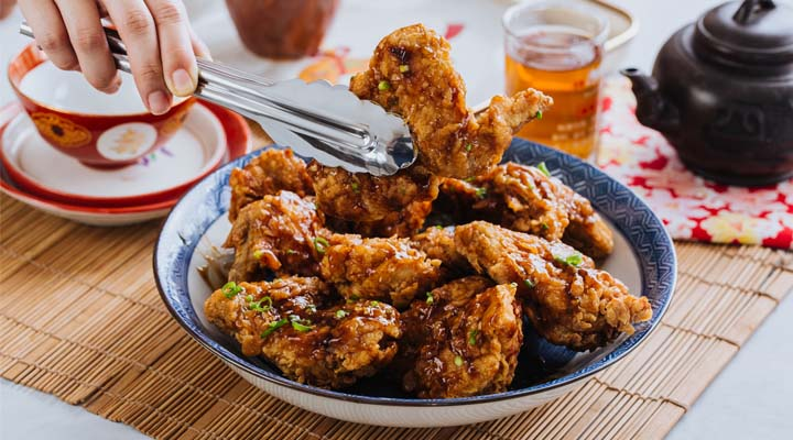 Ginger and Spring Onion Chicken Wings