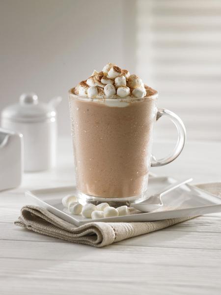 Chocolate frío con malvaviscos