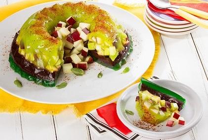 Gelatina de manzana con chamoy