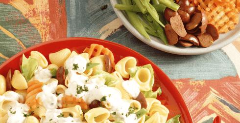Ensalada fresca con pasta