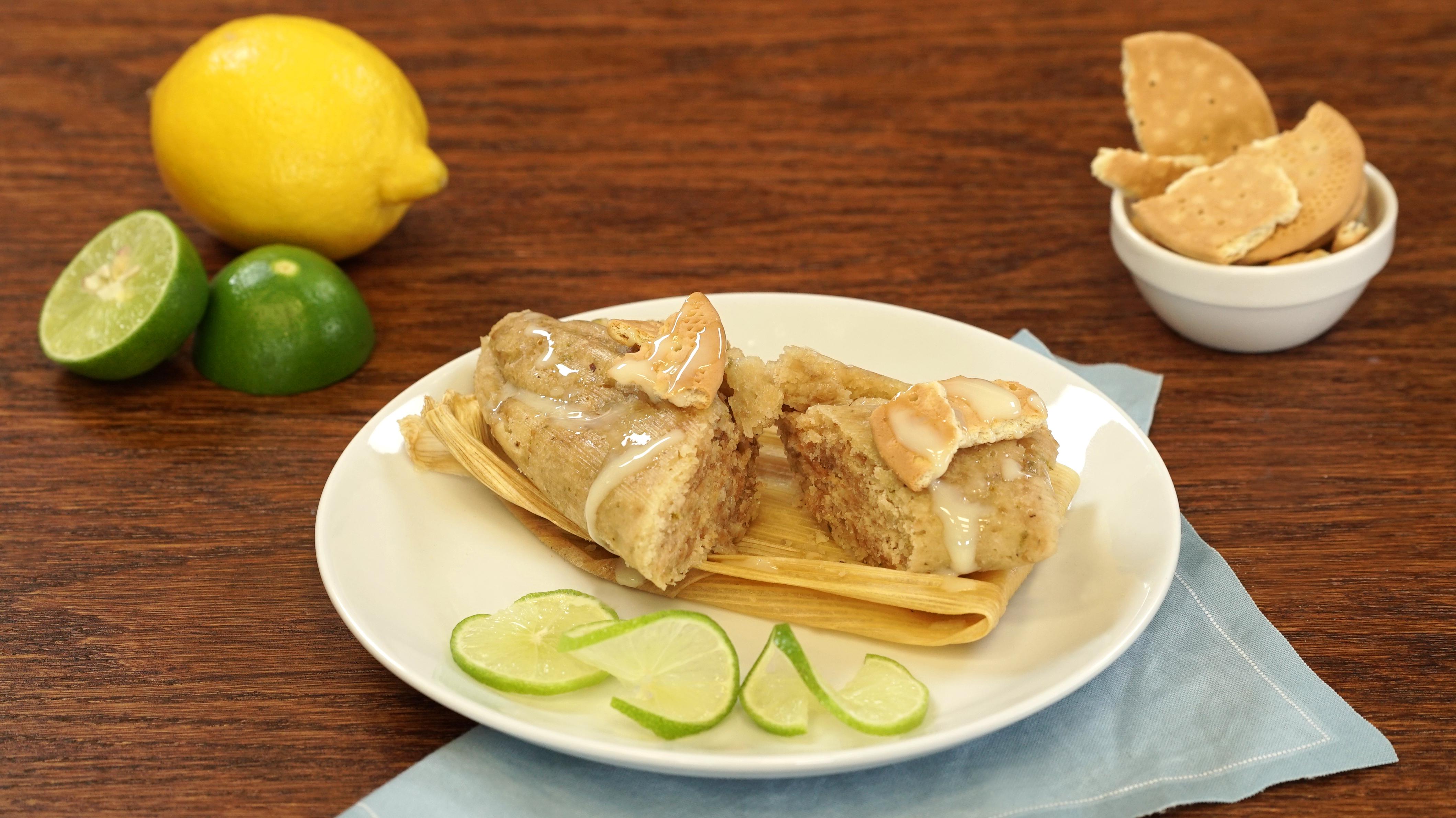 Tamales de pay de limón