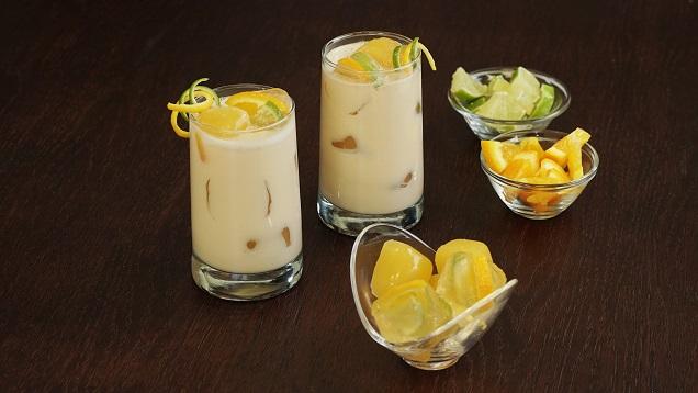 Agua de avena con naranja