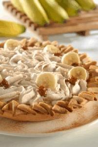Pay de plátano a la crema
