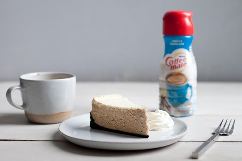 Gâteau au fromage au cappuccino
