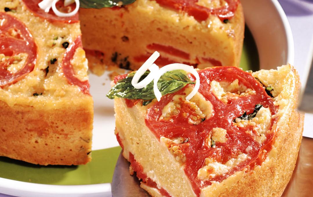 Volteado de Tomate y Queso Mozzarella