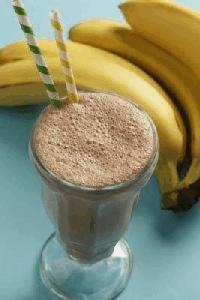 Malteada choco-plátano