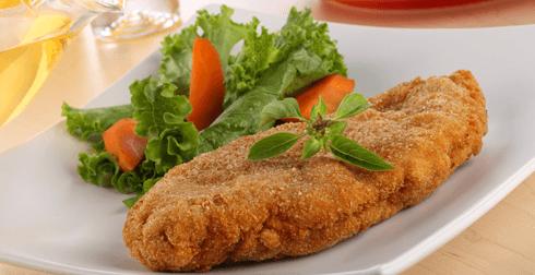 Pollo relleno con queso a la mostaza