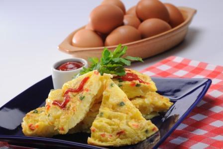 Tortilla de huevo y papa
