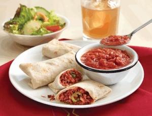 Burritos con salsa asada