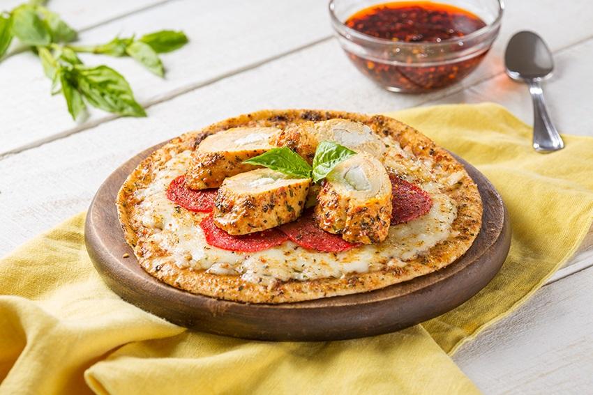 Pizza con tomate y especias