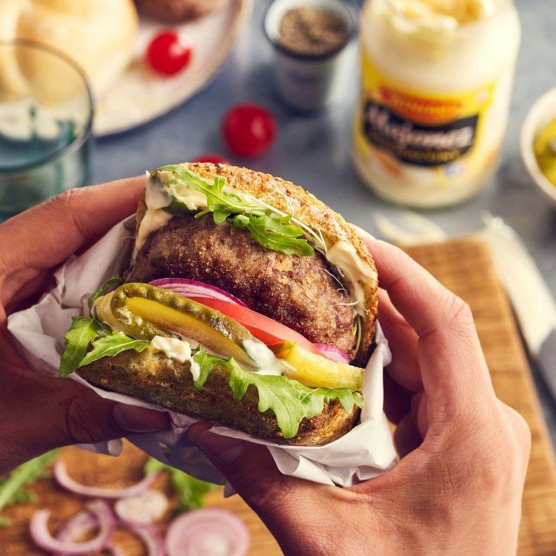 Burger z mielonym