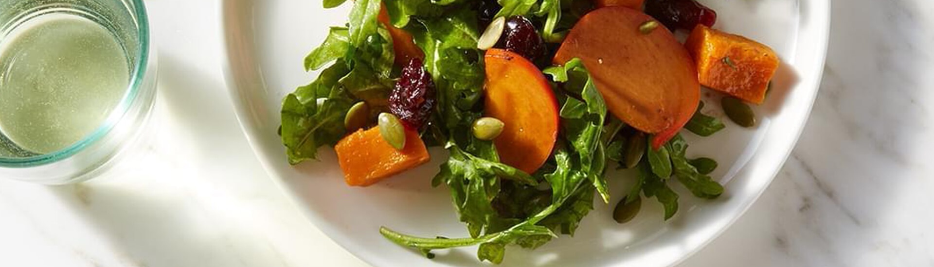 Winter Salad with Cranberry, Butternut Squash and Persimmons