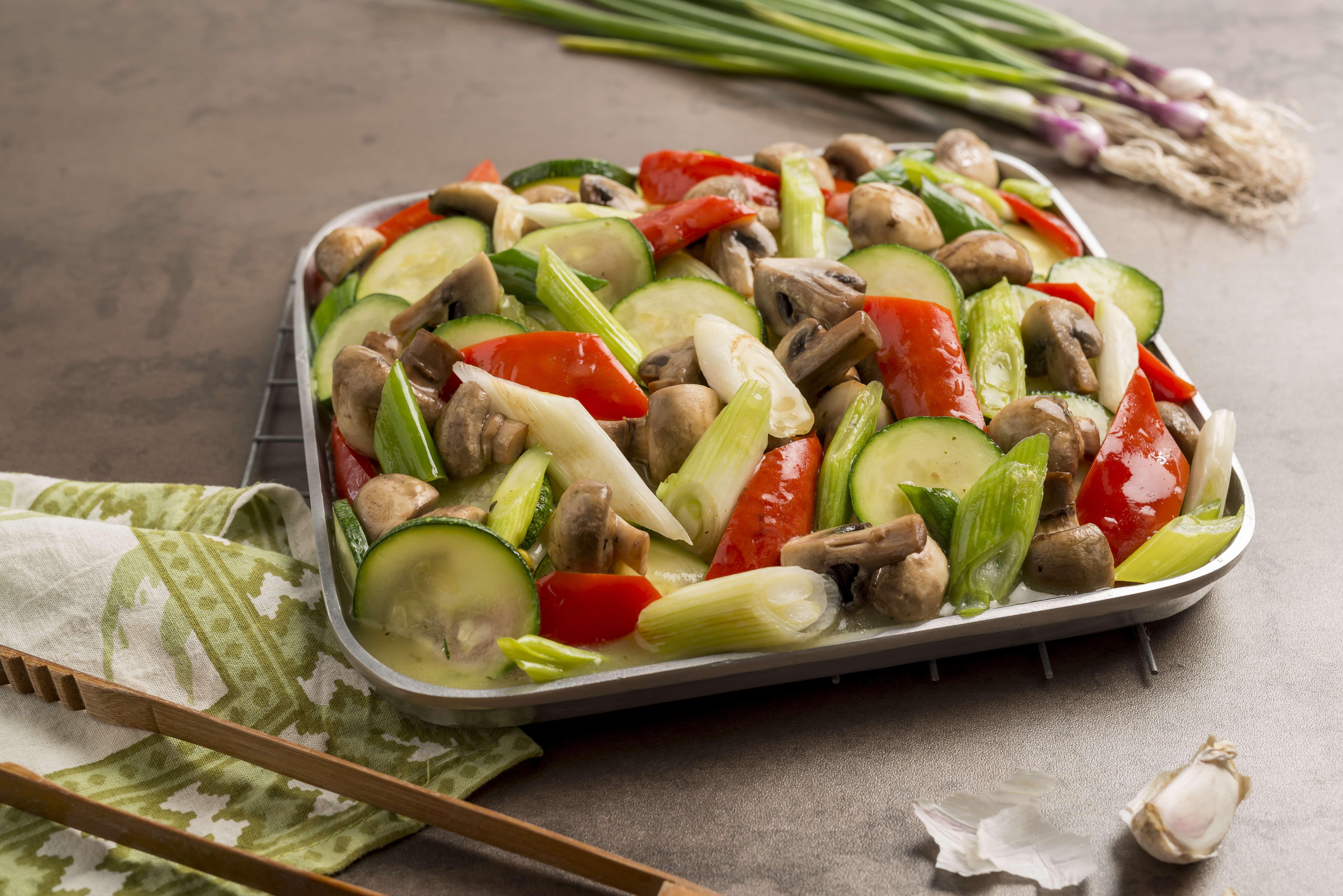 Salteado de vegetales al wok