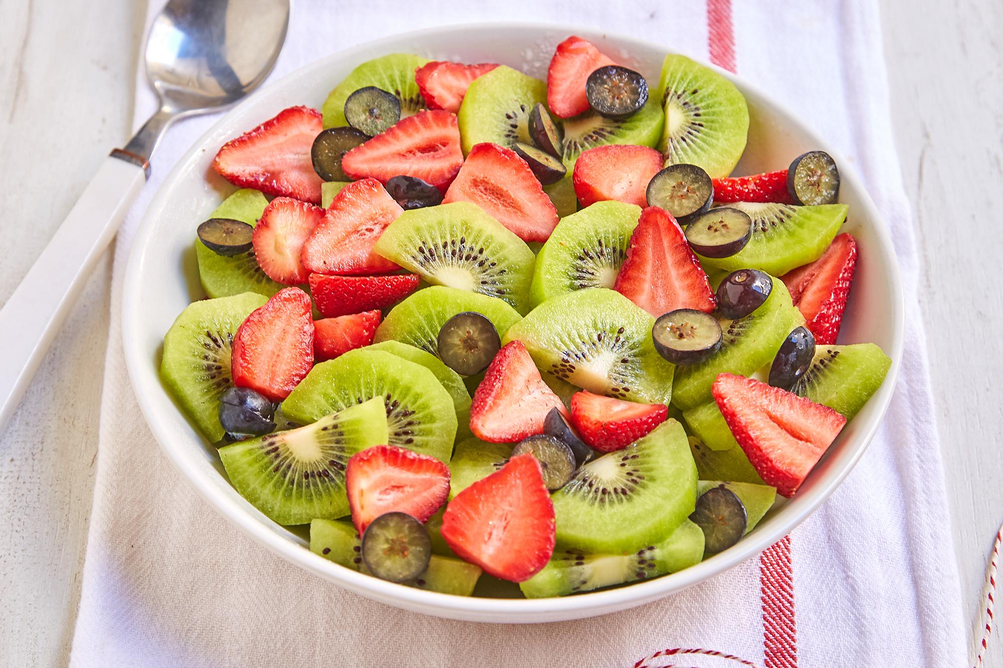 Ensalada de Frutilla, Kiwi y Arándanos