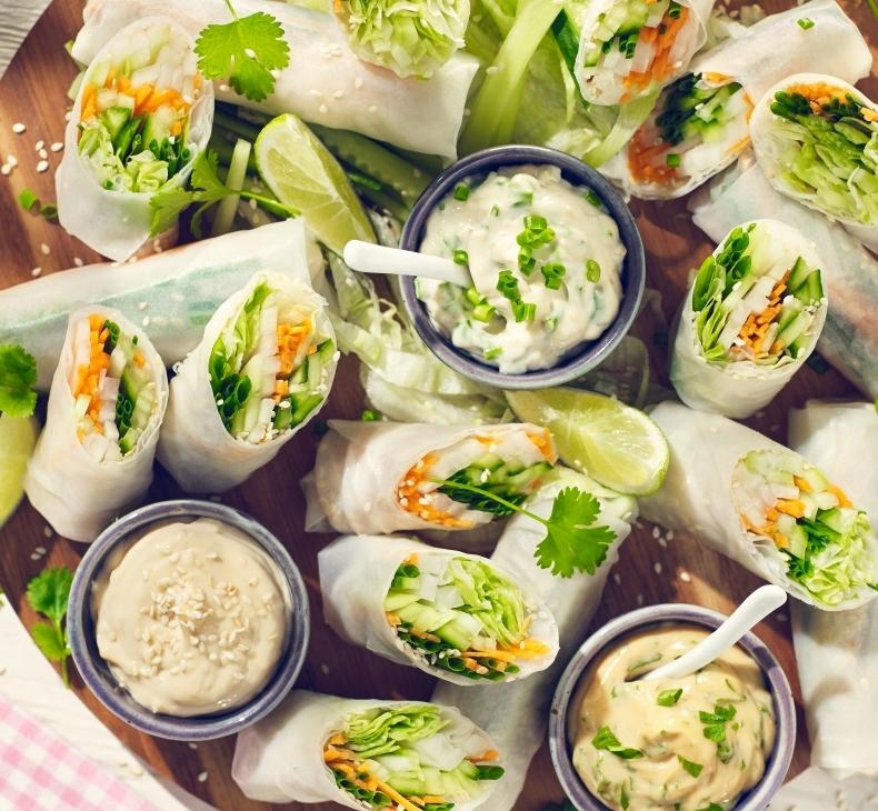 Spring rolls z nowalijkami
