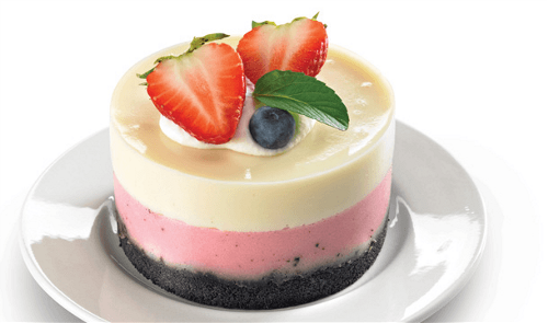 Pastel helado napolitano