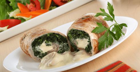 Rollos de ternera con queso