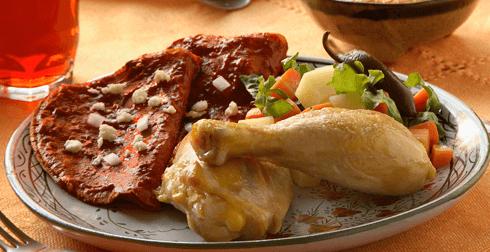 Pollo de plaza estilo Morelia