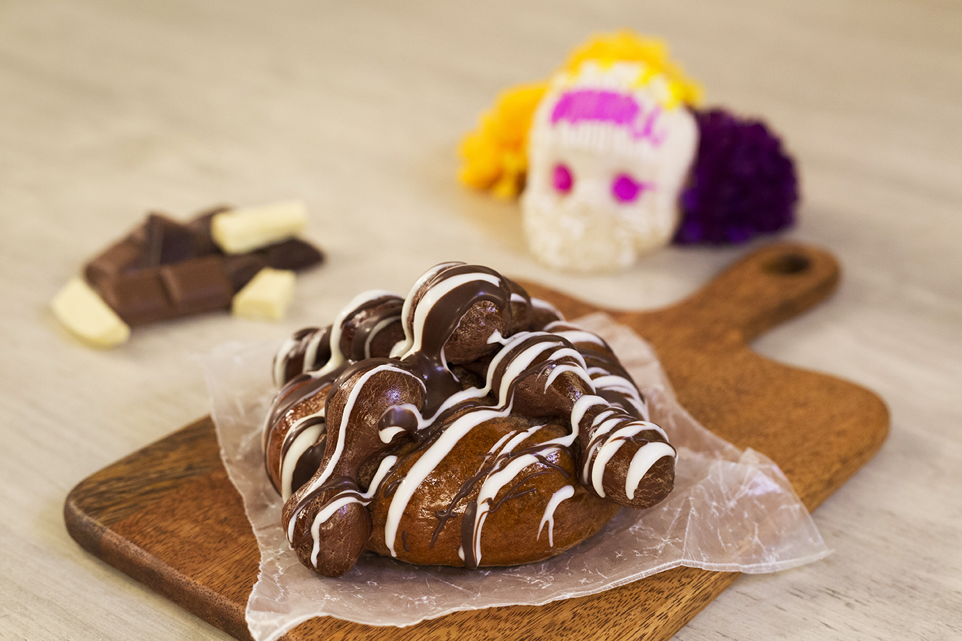 Pan de muerto 2 chocolates