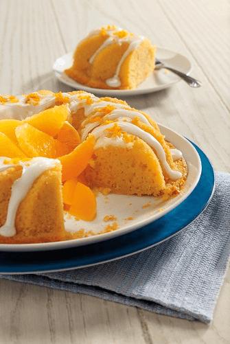 Rosca de naranja con durazno