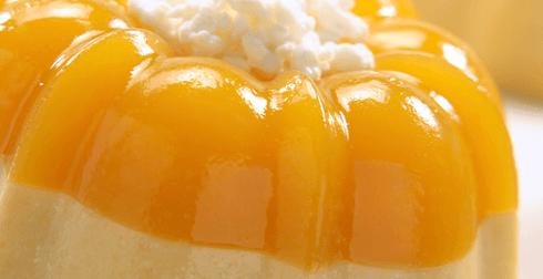 Gelatina de dulce de mango