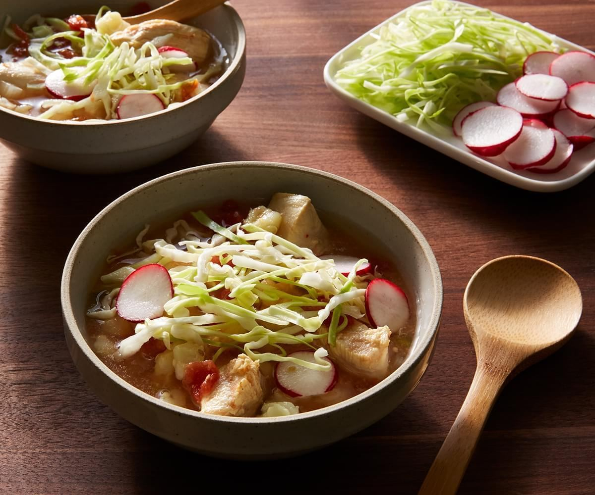 Slow Cooker Chicken Pozole image