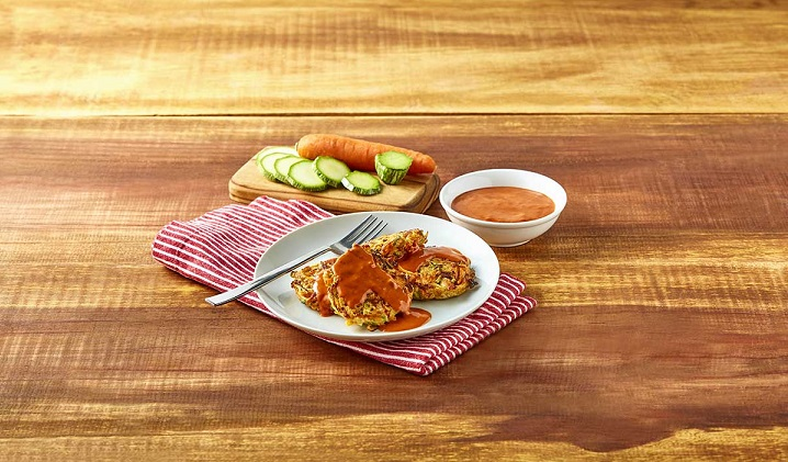 Tortitas de pollo con verduras