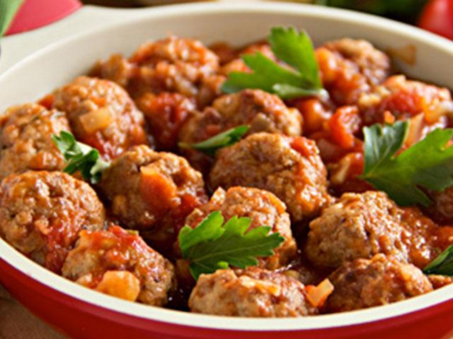 Bolitas de Carne en Salsa Pomodoro