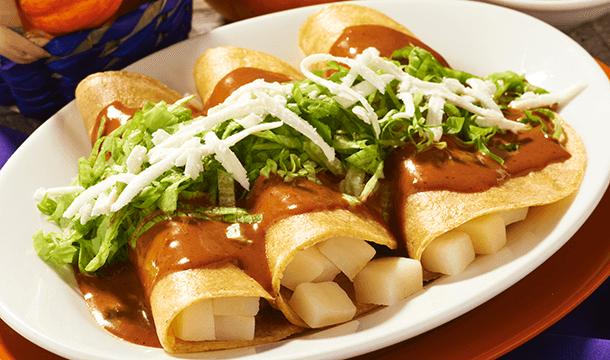 Enchiladas rellenas de papa