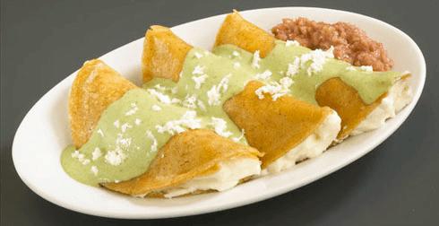 Enchiladas cremosas ligeras
