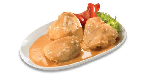 Pollo en salsa cremosa de jitomate