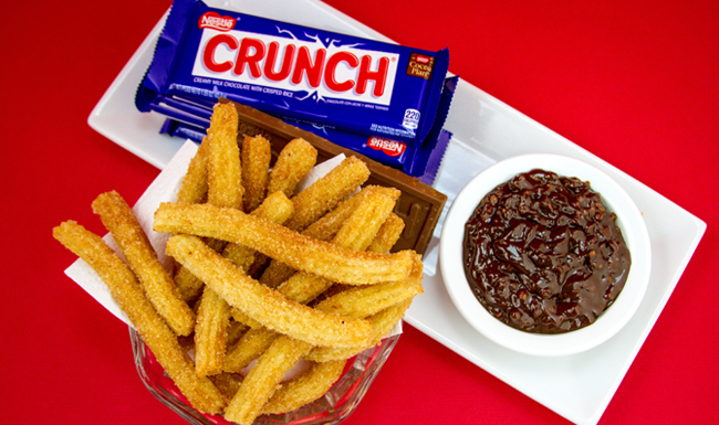 Churros con crema de Chocolate