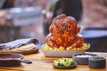 Pollo al pastor al asador