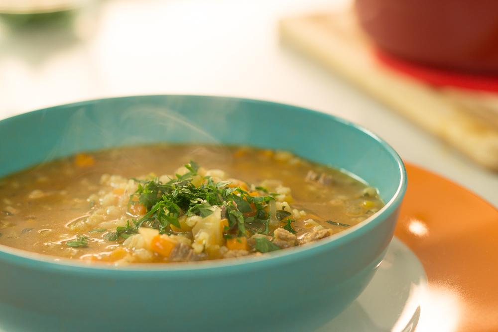 Sopa de pollo y jengibre