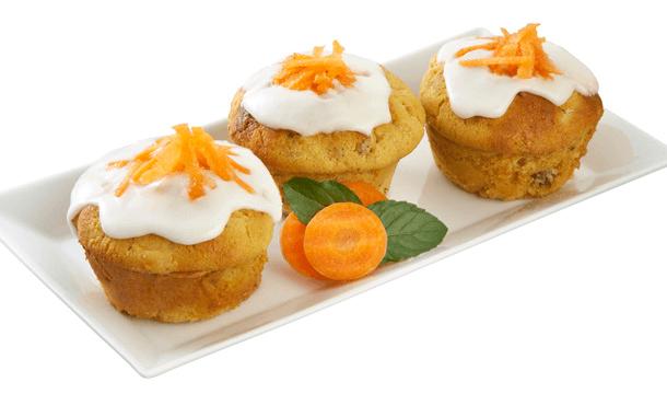 Panquecitos de zanahoria