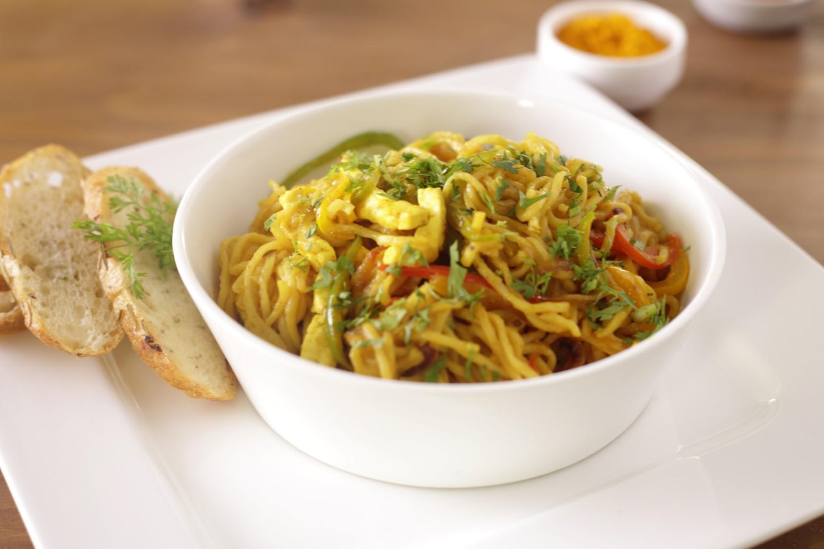 Paneer Bhurji Noodles