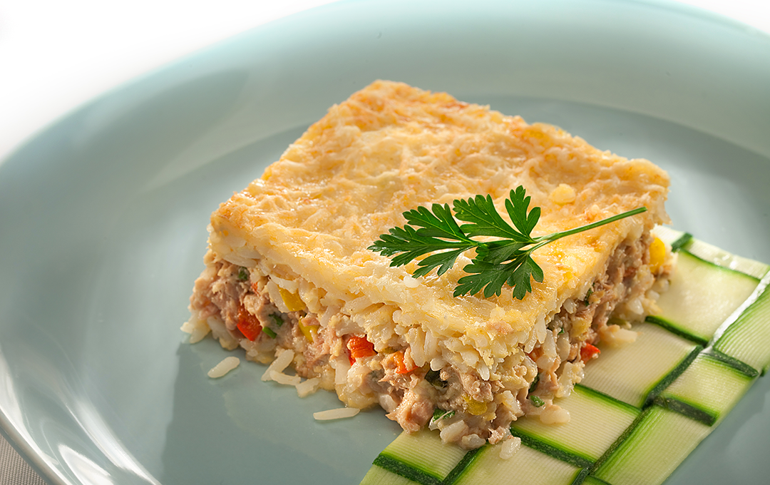 Tuna receta con arroz