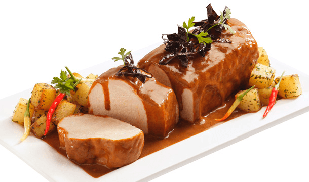 Lomo de cerdo en salsa de tamarindo