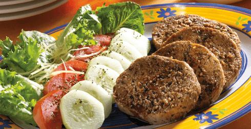 Hamburguesas de carne y queso