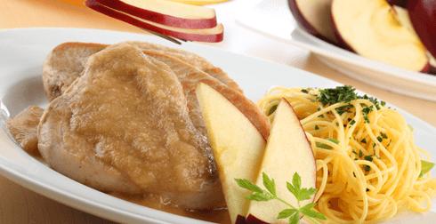 Lomo de cerdo en salsa de manzana