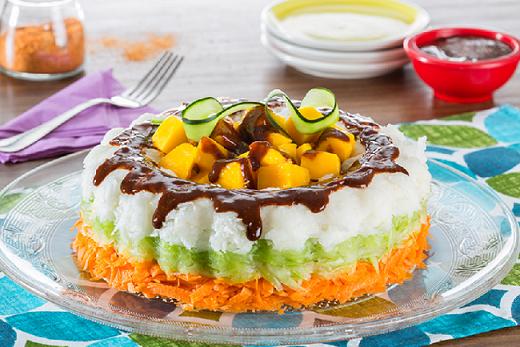 Rosca de verduras con salsa MAGGI® brava