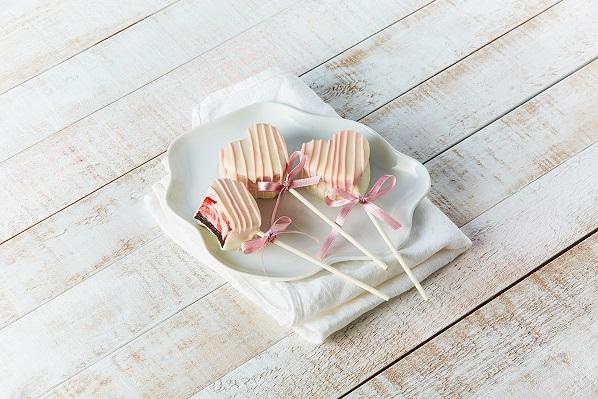Paletas de cheesecake