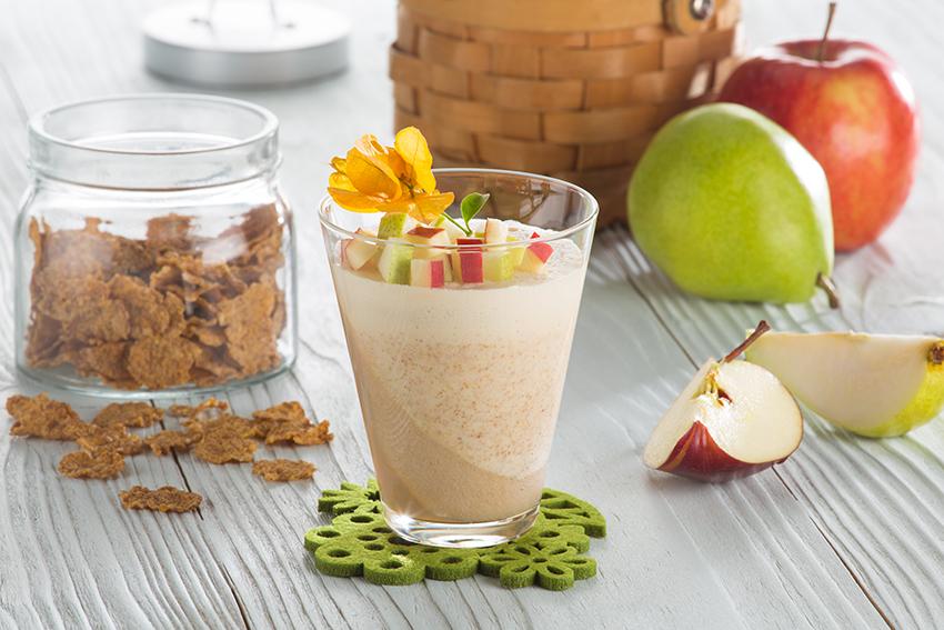 Gelatina de manzana, pera y cereales