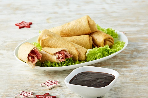 Tacos de pavo con salsa teriyaki