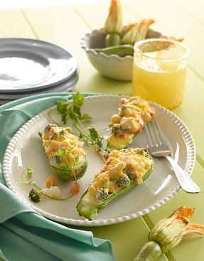 Calabacitas rellenas de verduras