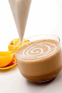 Café helado de naranja